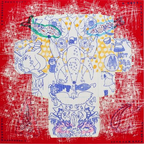 芝田知佳 消した落書きとエビまたはハコ1995-b 2015 Chika Shibata Tachibana Gallery