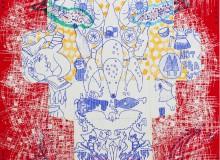 Chika Shibata 消した落書きとエビまたはハコ1995-b Tachibana Gallery